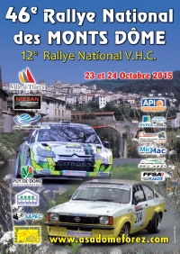 affiche rallye national des Monts-D�me