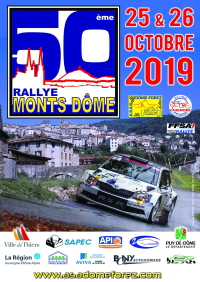 affiche Rallye National des Monts Dôme 2019